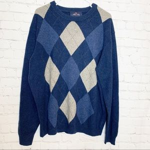 ALLEN SOLLY 100% 2 Ply Cashmere Sweater Size XL
